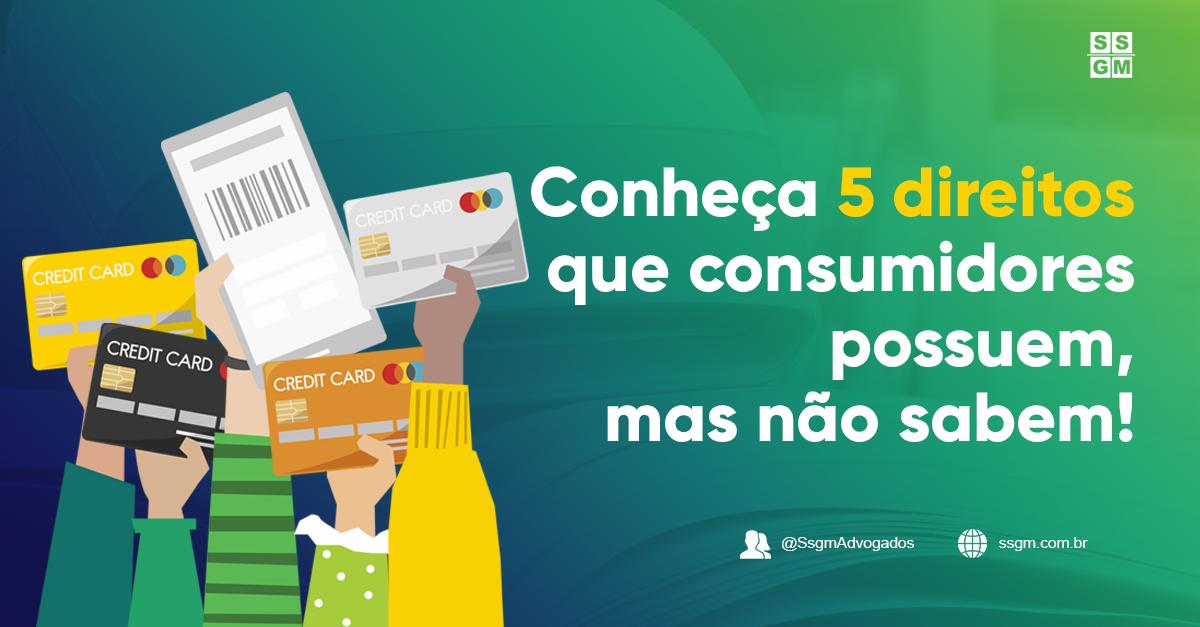 Conheça 5 direitos que consumidores possuem, mas não sabem!